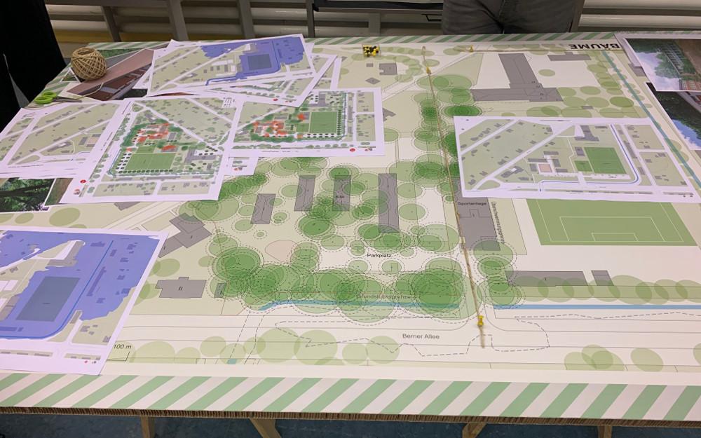Planungen im Quartier Lienaustr. in Farmsen-Berne, Januar 2020 (Foto: Marc Buttler)